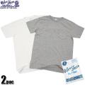 Velva Sheen ベルバシーン 2PAC ポケット付きCrew NecK TシャツWHITE + H.GREY