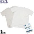 Velva Sheen ベルバシーン 2PAC ポケット付きCrew NecK TシャツWHITE + OATMEAL