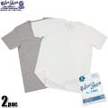 Velva Sheen ベルバシーン 2PAC ポケット付きV-Neck Tシャツ WHITE + H.GREY
