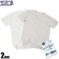 ☆ただいま20%OFF☆Velva Sheen ベルバシーン 2PAC ポケット付きV-Neck Tシャツ WHITE + OATMEAL