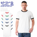 Velva Sheen ベルバシーン MADE IN USA 161910 ROLLED RINGER TEE 半袖 クルーネックTシャツ / メンズ レディース トップス ロゴ 米国製 アメリカ製
