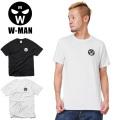 ☆SALE☆30%OFF☆W-MAN ダブルマン 1718109 S/S クルーネック プリント Tシャツ W-MAN LOGO★キャンペーン対象外★