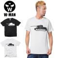 ☆SALE☆30%OFF☆W-MAN ダブルマン 1718110 S/S クルーネック プリント Tシャツ TANK★キャンペーン対象外★