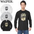 ◎まとめ割引対象◎【即日出荷対応】WAIPER.inc 1819112 WORK IS OVER ロングスリーブ Tシャツ 長袖【Sx】