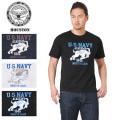 ☆まとめ割☆【ネコポス便対応】HOUSTON ヒューストン 21374 MILITARY プリント Tシャツ U.S.N