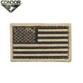 【キャンペーン対象外】【ネコポス便対応】CONDOR コンドル U.S. FLAG PATCH (ワッペン) TAN