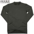 【キャンペーン対象外商品】C.A.B.CLOTHING J.G.S.D.F. 自衛隊 クルーネック長袖Tシャツ OD【2704】