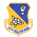 ☆20%OFFセール☆実物 新品 米軍27TH FIGHTER WING パッチ