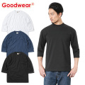 ☆15%OFF割引中☆【即日出荷対応】Goodwear グッドウェア 2W7-2509 USAコットン 7分袖 FOOTBALL Tシャツ