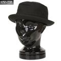 ☆まとめ割☆New York Hat ニューヨークハット 3014 CANVAS ポークパイハット BLACK