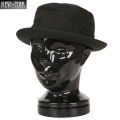 New York Hat ニューヨークハット 3014 CANVAS ポークパイハット BLACK