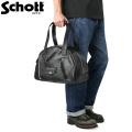 Schott ショット 3109069 LEATHER RIDERS BOSTON BAG(レザー ライダース ボストンバッグ)【キャンペーン対象外】