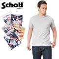 ☆複数点割引☆【ネコポス便対応】Schott ショット 3133035 S/S クルーネック ポケット Tシャツ