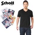 ☆複数点割引☆【ネコポス便対応】Schott ショット 3133036 S/S Vネック ポケット Tシャツ