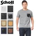 ☆15%OFFセール☆Schott ショット 3163030 ディアスキン レザー ポケット Tシャツ ONE STAR
