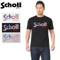 【ネコポス便対応】Schott ショット 3193060 US FLAG LOGO Tシャツ 半袖【キャンペーン対象外】