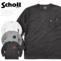 Schott ショット 3173078 LEATHER POCKET ONE STAR Tシャツ【Sx】
