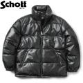 Schott ショット 3191067 シープスキンレザー ダウンジャケット【キャンペーン対象外】