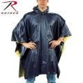 ☆20%OFFセール☆ROTHCO ロスコ リバーシブル PVC ポンチョ Navy Blue/Yellow 【3644】