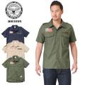☆複数点割引☆HOUSTON ヒューストン 40301 S/S U.S.ARMY ワッペン ミリタリー シャツ