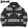 ☆まとめ割引対象☆Schott ショット 44959(SCH-F1838) ボアラインド カウチン ジップセーター / ジップカーディガン