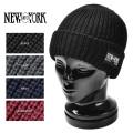 ☆まとめ割☆New York Hat ニューヨークハット 4581 CHUNKY CUFF ニットキャップ New York Hatパッチ 4色