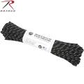 ROTHCO ロスコ 550LB パラシュートコード 100フィート BLACK W/3 REFLECTIVE TRACERS