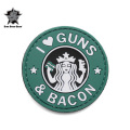 ☆15%OFFセール☆5IVE STAR GEAR ファイブスターギア 6713 GUNS AND BACON MORALE PATCH(パッチ ワッペン ベルクロ)