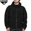 【キャンペーン対象外】CONDOR コンドル シェラ フーデッドフリース ジャケット BLACK【605】