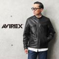 【即日出荷対応】AVIREX アビレックス 6101045 SHEEP SKIN スタンド シングルライダース ジャケット【キャンペーン対象外】