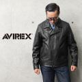 【即日出荷対応】AVIREX アビレックス 6101046 SHEEP SKIN ダブルブレスト ライダースジャケット【キャンペーン対象外】