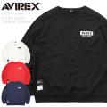 AVIREX アビレックス 6103399 L/S ビッグロゴ クルーネック スウェットシャツ【キャンペーン対象外】