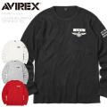 AVIREX アビレックス 6103407 L/S USN ビッグワッフル クルーネックTシャツ【キャンペーン対象外】