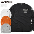 AVIREX アビレックス 6103408 L/S HONEYCOMB WAFFLE Tシャツ【キャンペーン対象外】 長袖
