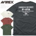 AVIREX アビレックス 6103472 FADE WASH LOOSE FIT ミリタリーポケット 半袖 クルーネックTシャツ【キャンペーン対象外】 ミリタリーファッション