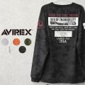 AVIREX アビレックス 6103530 ムーンランディング パッチ 長袖 クルーネックTシャツ【キャンペーン対象外】