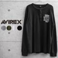 AVIREX アビレックス 6103540 ハニカムワッフル ヘンリー Tシャツ TOP GUN【キャンペーン対象外】