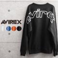 AVIREX アビレックス 6103545 BIG LOGO クルーネックスウェットシャツ【キャンペーン対象外】