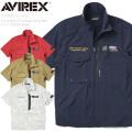 AVIREX アビレックス 6105093 S/S STRETCH STAND ZIP シャツ F-117 NIGHTHAWK【キャンペーン対象外】