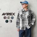 AVIREX アビレックス 6105134 デイリーウエア コットン フランネルシャツ【キャンペーン対象外】