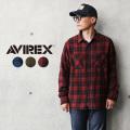 AVIREX アビレックス 6105135 デイリーウエア コットン ビエラシャツ【キャンペーン対象外】