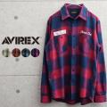 AVIREX アビレックス 6105139 ネーヴァル ライト ネルシャツ【キャンペーン対象外】