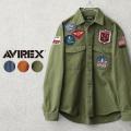 AVIREX アビレックス 6105143 TOP GUN ミリタリーシャツ【キャンペーン対象外】
