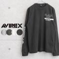 AVIREX アビレックス 6113437 ハニカムワッフル クルーネック L/S Tシャツ BLACK CAT【キャンペーン対象外】【T】ミリタリーファッション
