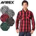AVIREX アビレックス デイリーウエア 6115071 L/S フランネル ブロックチェック シャツ