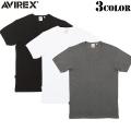 【ネコポス便対応】AVIREX アビレックス デイリーウエア ミニワッフル UネックTシャツ3色 6123068 アヴィレックス