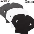 AVIREX アビレックス デイリーウエア Uネック長袖Tシャツ3色 アヴィレックス