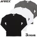 AVIREX アビレックス デイリーウエア ミニワッフル Vネック長袖Tシャツ3色 アヴィレックス【Sx】