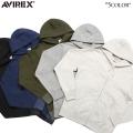 AVIREX アビレックス デイリーウェア 6133201 L/S フルジップ スウェットパーカー5色