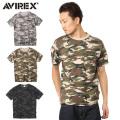 AVIREX アビレックス  6143387 FATIGUE クルーネックTシャツ CAMO ミリタリー アヴィレックス【キャンペーン対象外】